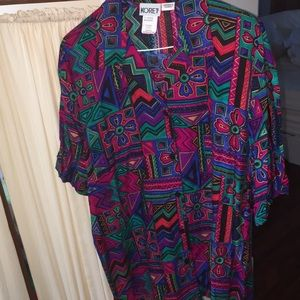 VTG NWT Koret blouse button down FunKY